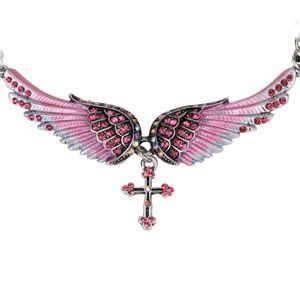 Náhrdelník Angel Cross-Ružová KP2273