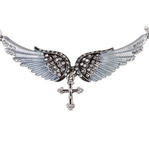 Náhrdelník Angel Cross-Strieborná KP2272