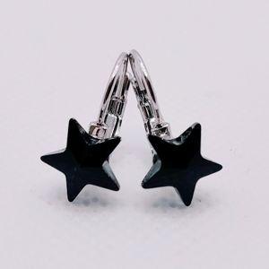Náušnice Hviezdy SWAROVSKI-Čierna KP5938