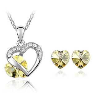 Set Heart Crystal - Žltá KP265