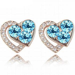 Náušnice Lovely Heart-Modrá KP5537