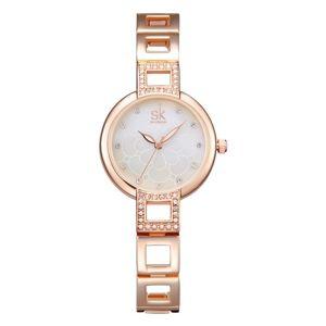 Hodinky SHENGKE Luxury-Zlatá/Ružová KP4370