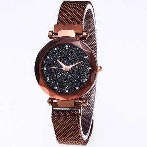 Magnetické Hodinky Stars-Hnedá KP6245