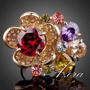 Prsteň Flower AZORA - Multi KP434