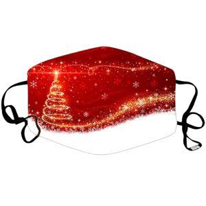 Vianočné Rúško s výmenným filtrom-Červená KP6729