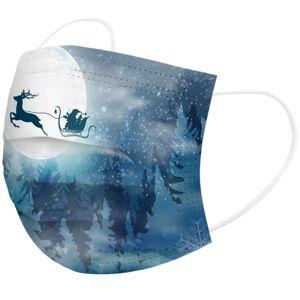 1x Vianočné jednorázové Rúško-Mesiac KP6737