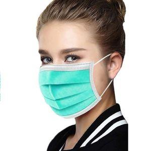 1x Hygienické jednorázové Rúško-Zelená2 KP6858