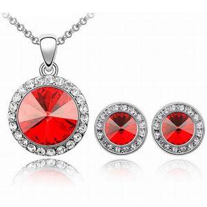 Set šperkov Blaze - Červená KP1876