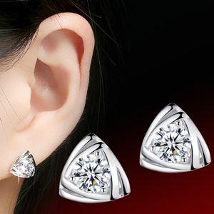 Náušnice Silver Triangle - Strieborná KP1453